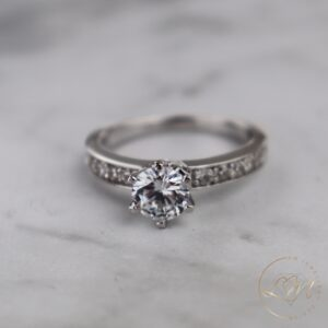 Six Claw Engagement Ring