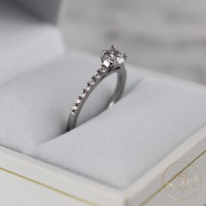 Four Claw Diamond Engagement Ring