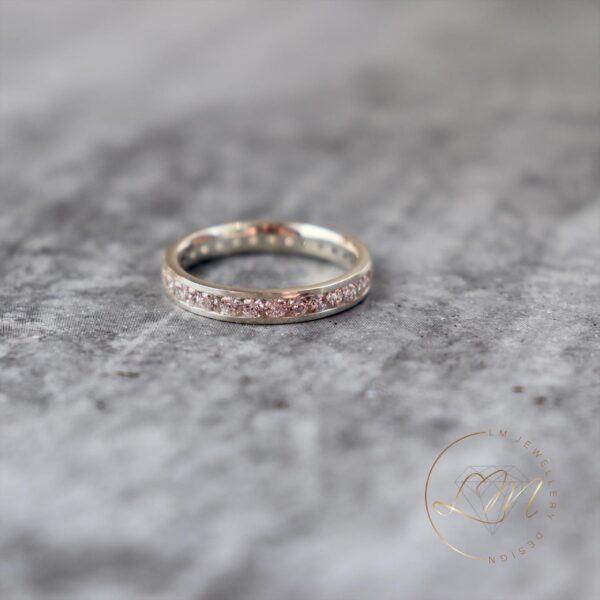 Channel Set Wedding Ring