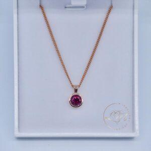 9ct Rose Gold Rhodolite Garnet Pendant