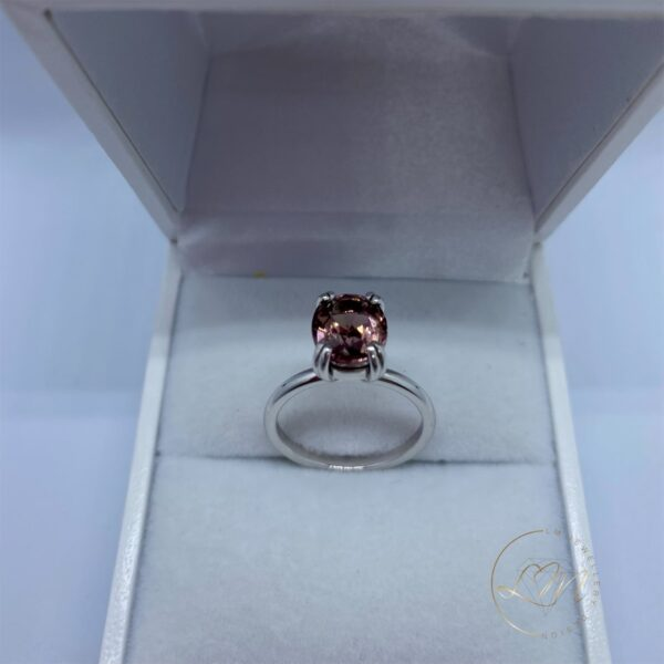 9ct White Gold Tourmaline Solitaire Ring