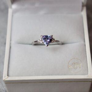 Trilliant Tanzanite Tapered Ring