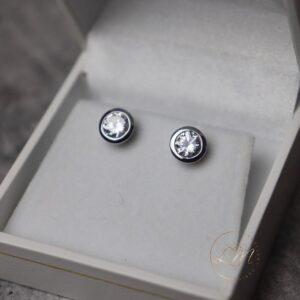 9ct White Gold Stud Earrings